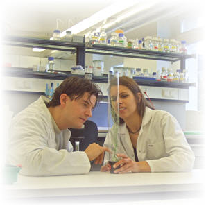 Students at lab